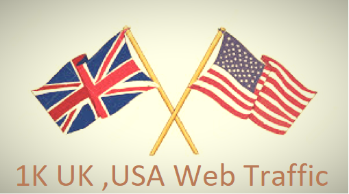 1K USA UK Keyword Targeted Web Traffic
