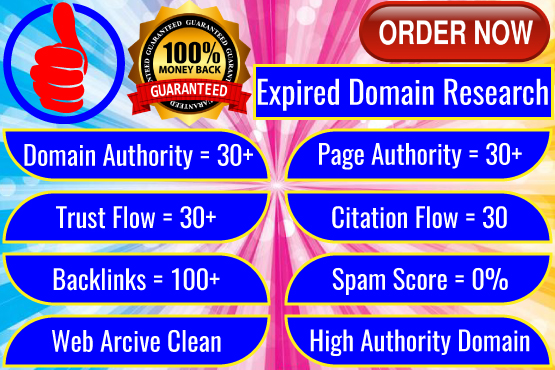5 outdated domain research DA 10 + PA 10+ TF 10+ CF 10+ spam score 0 Backlink will be 25+