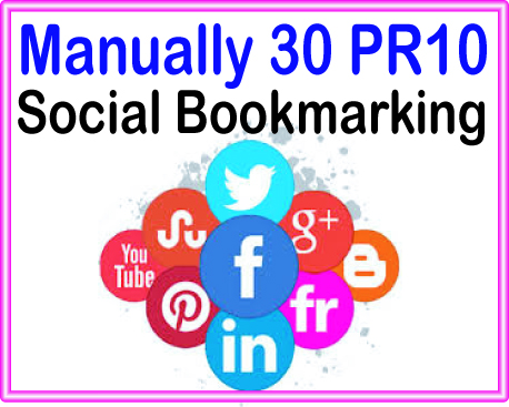 Do Manually Create 30 PR7 -PR10 Live Social Bookmarking Backlinks get Boost Alexa Ranking