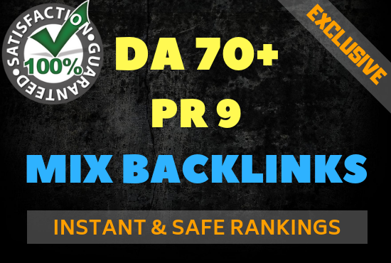Dominate Google in 2019 With 20 DA70+ or PR9 Mix Backlinks