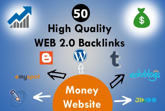 Manually Create 50 SUPER WEB 2.0 Contextual Backlinks