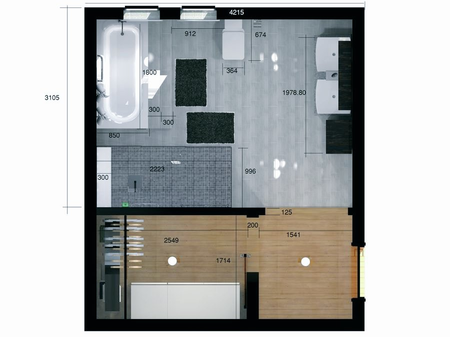 Architectural design and interior rendering