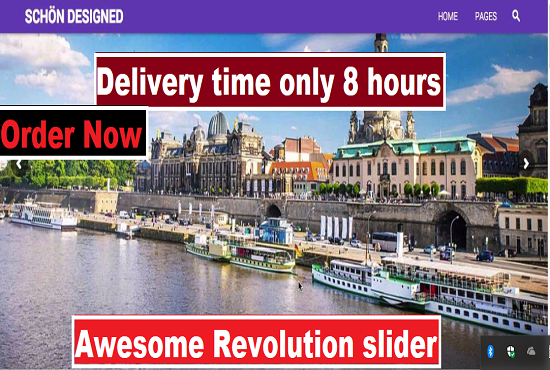 Build your wordPress website revolution slider very f...