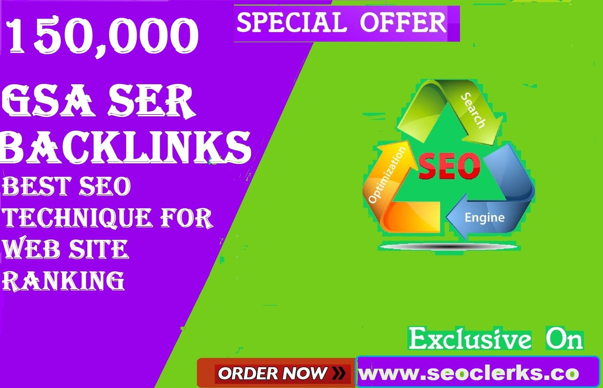 High quality seo 1000000 Gsa ser backlinks fast rangking