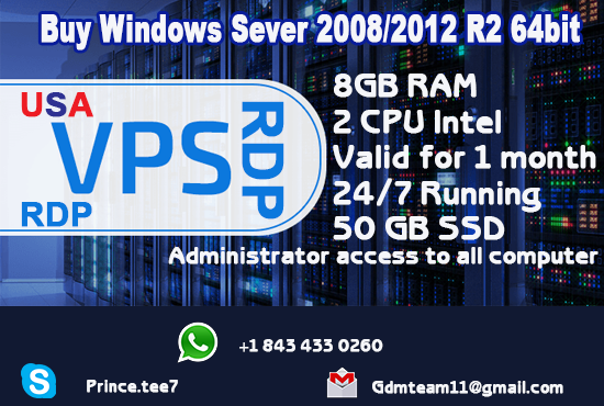 Providing Setup 8GB RAM, 30 to 50GB SSD Window VPS(RDP) for 25 to 30 days