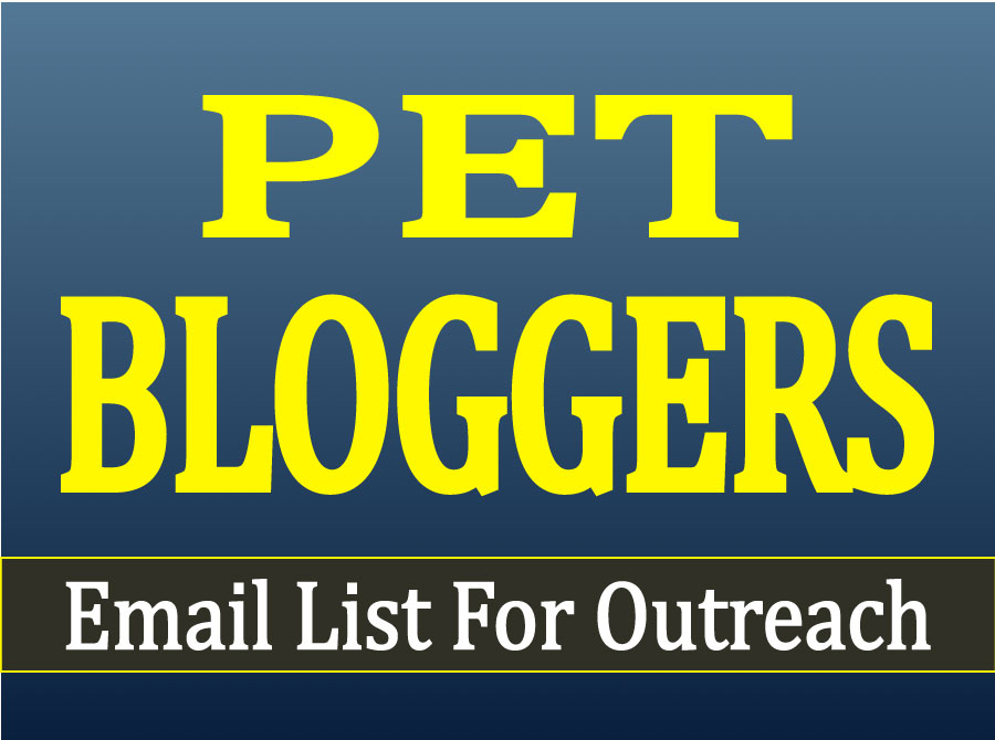 Ready to Send You A Pet Bloggers Email List For Outreach With Gift