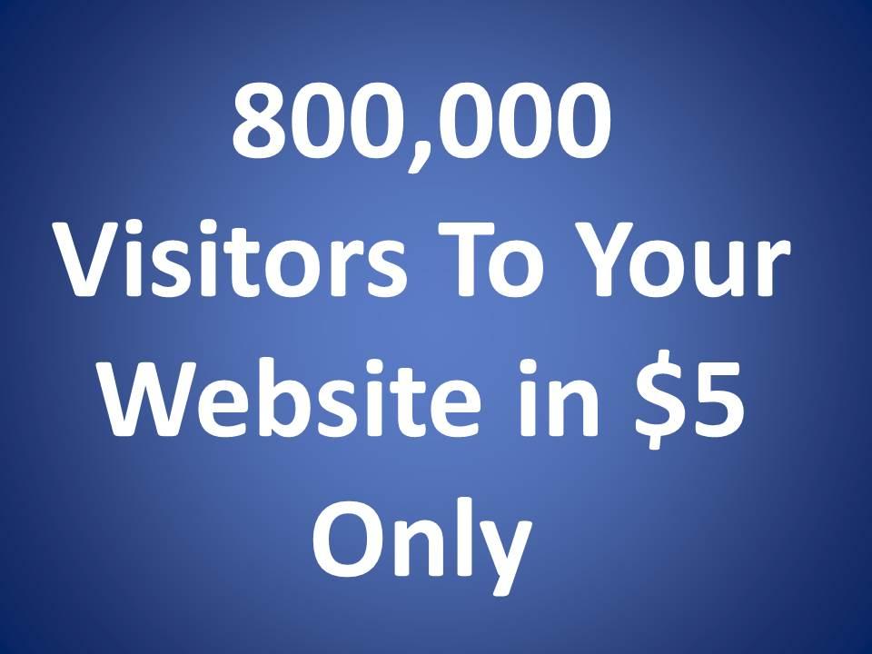 800,000 Visitors To Your Website - Buy 2 Get 1 Free Bonus