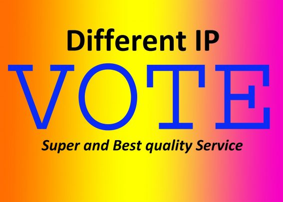 Get 200 Unique IP votes (Targeted Country IP) super fast service