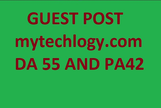 guest post on mytechlogy. com