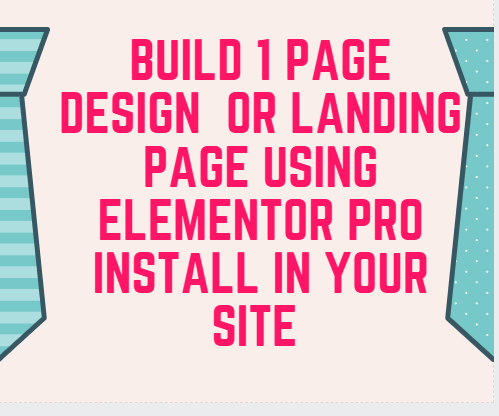 Install Elementor Pro Plugins and Build 1 Landing Page