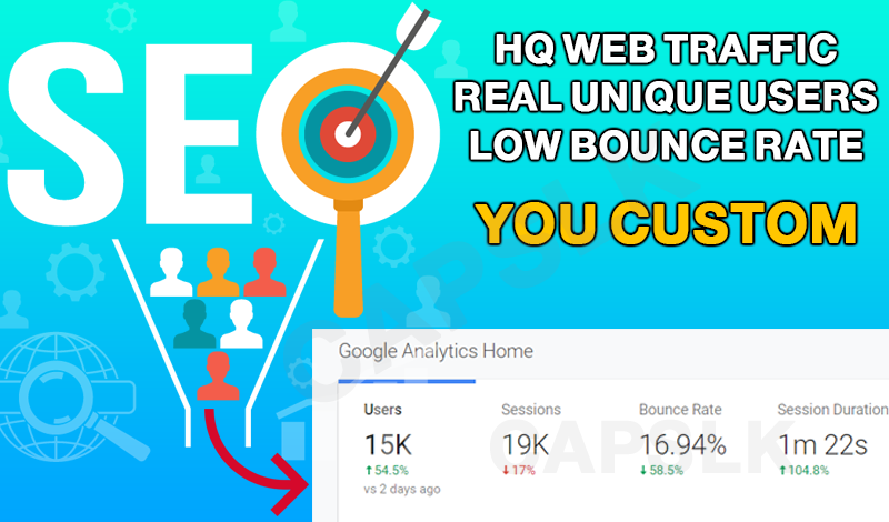 HQ Web Traffic + Unique Visitors + Low Bounce Rate Guaranteed Boost Alexa Rank / SEO