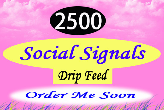 Top Quality and BQ provide 2500 real mix social signa...
