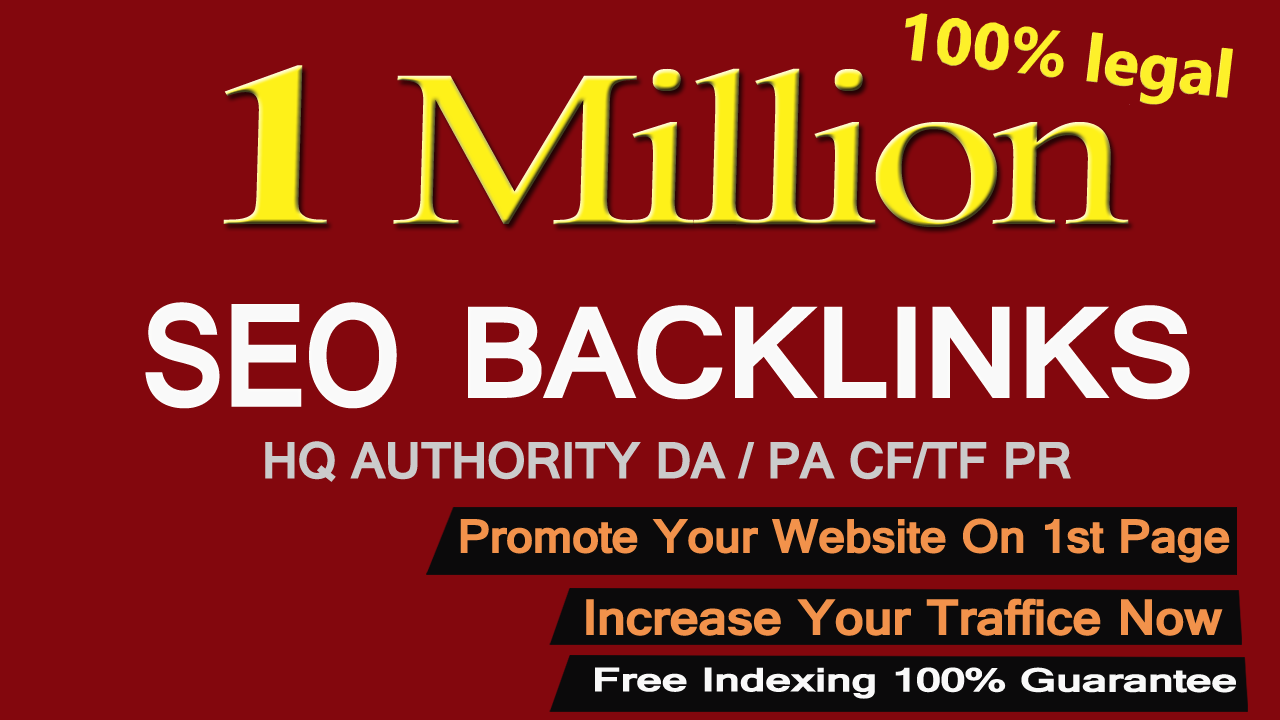 Create 1,000,000 Gsa, Dofollow, Seo Backlinks For Your Website