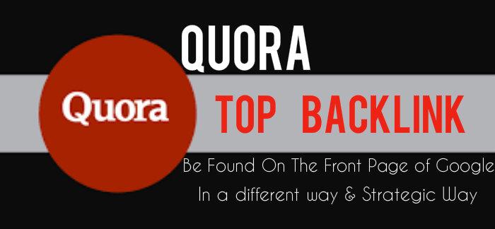 Add top backlinks on Quora qestions