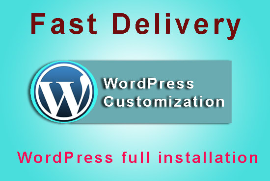 Customize, configure, fix or install wordpress