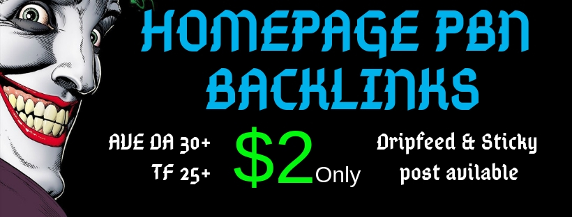 Homepage PBN Backlinks