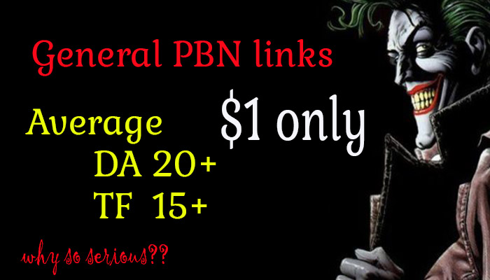 High Quality And Authority General PBN Backlinks