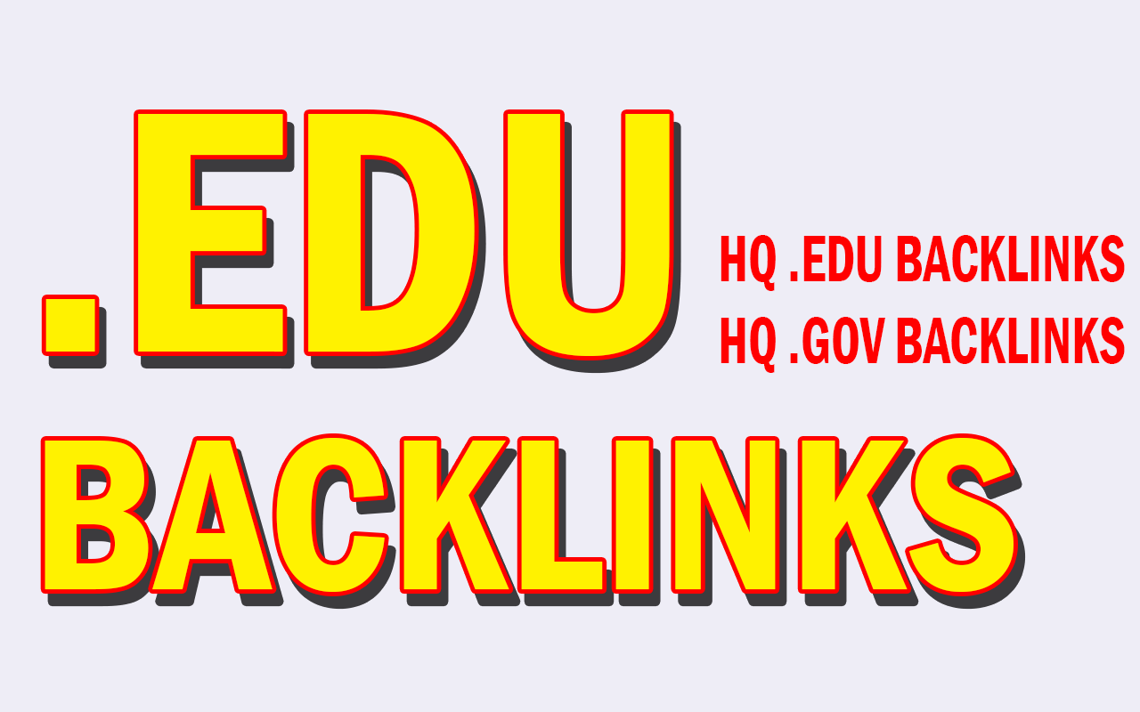 Build Fast 22 EDU + GOV HQ Backlinks From High Authority Websites 12-24 Hours