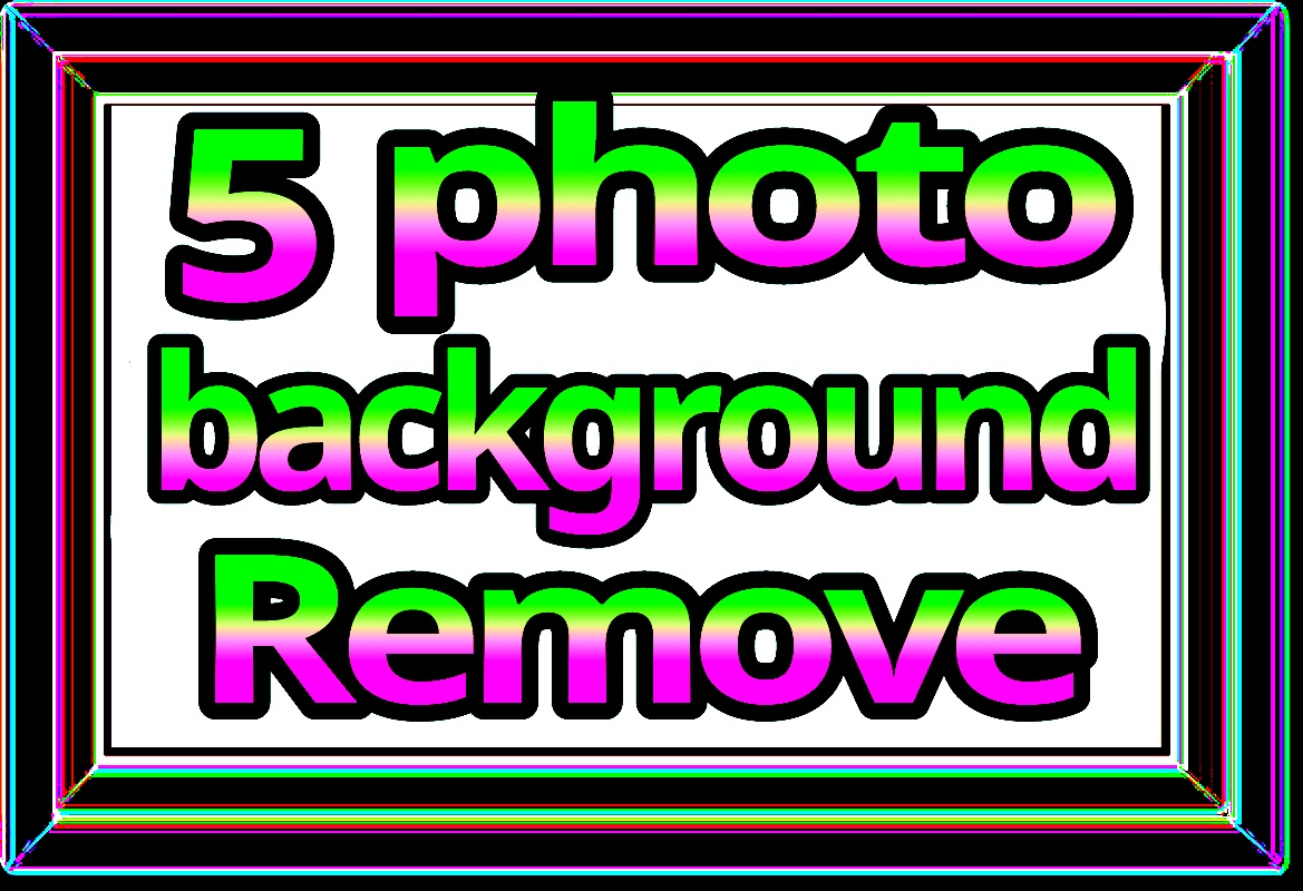 5 photo background remove fast delivery within 24 hours