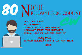 Provide 80 Niche Relevant Blog Comments Backlinks