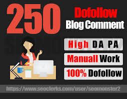 Update 2019 Backlinks High quality 250 Dofollow blog comments