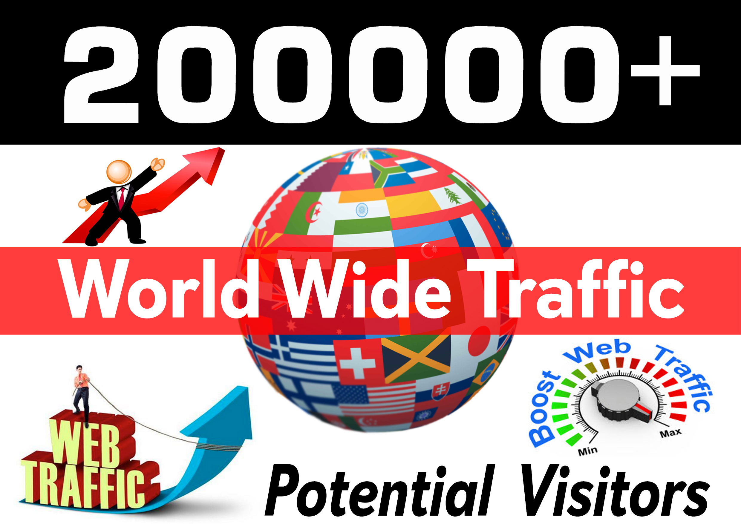 drive 200000+ Real Traffic to your Website or Blog