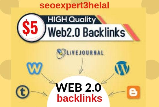 Build 50 super web 2 0 blogs with unique articles, C...