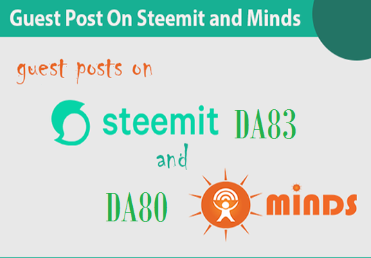 write and publish guest post on minds and Steemit.com