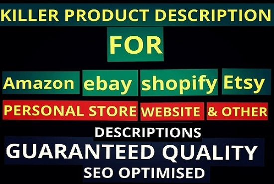 write eyes catchy,  SEO Friendly products description