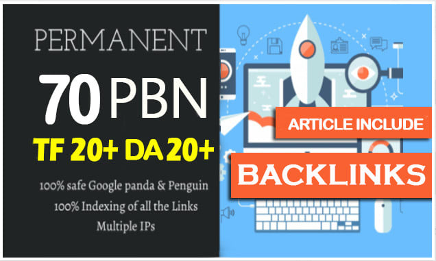 Create upto 70 High Pbn Backlinks In just 24 Hours