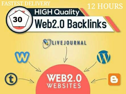 30 strong web 2.0 Blog Post Backlinks 100% Guarantee, safe and proven to Boast your site in top of Google first Page .