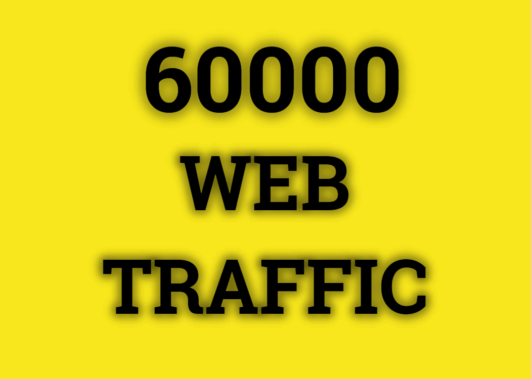 Real 60,000+ Web Traffic WORLDWIDE from Search Engine and Social Media