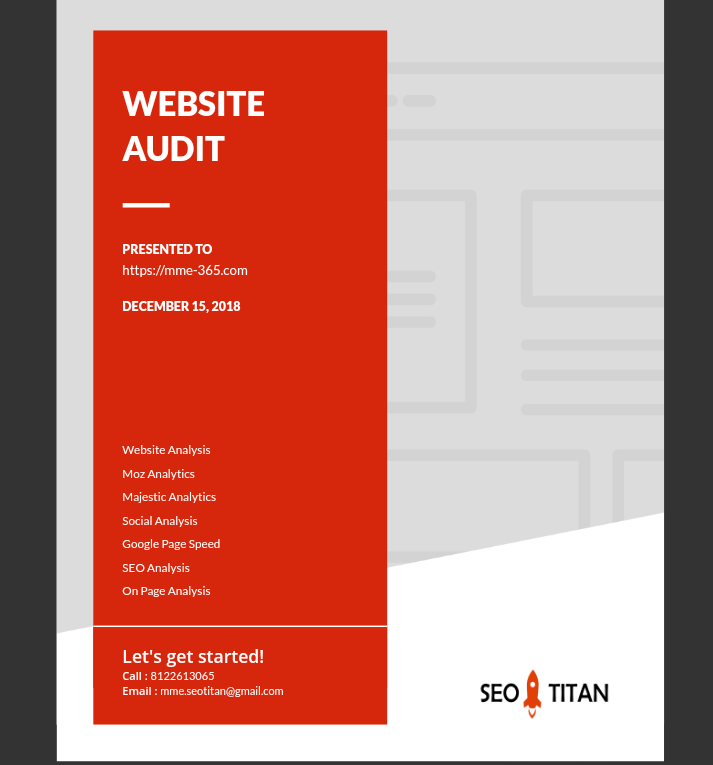 Custom SEO Report & Website Audit for 5 Websites