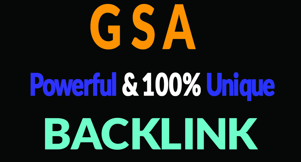 Provide You 2M Unique GSA backlinks for your YouTube Promotion