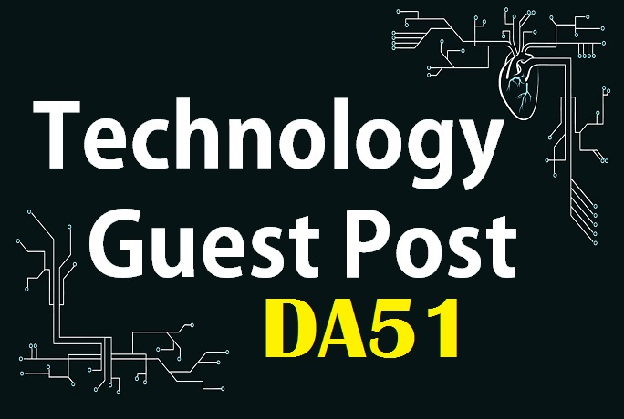 Add your guest post unique Tech article to good authority techDA51 PA40 blog