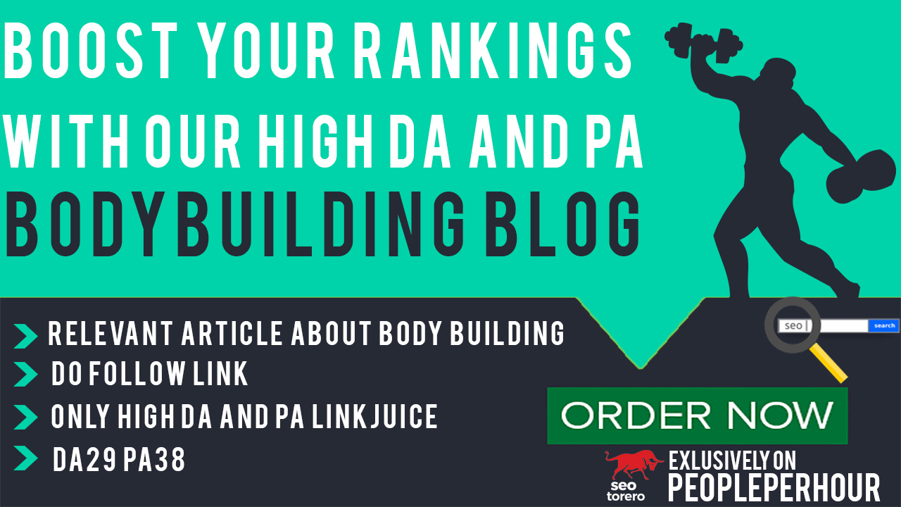 Write Creative guest blog post on DA39 PA38 Body Building Website