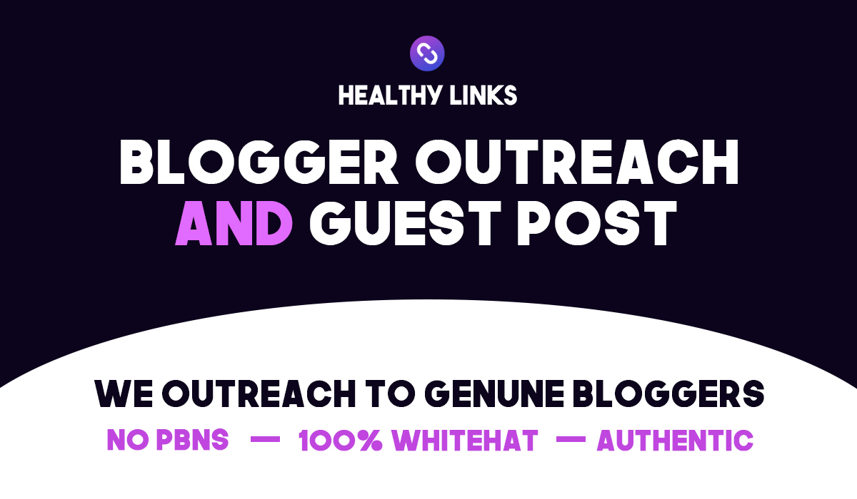 Blogger Outreach Service,  Guest Post on Niche Sites