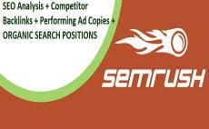 Get competititors reports vis SEMRUSH
