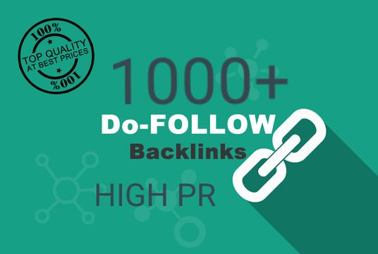 1000+ Backlinks for your websites. HIGH TRAFFIC, TOP...