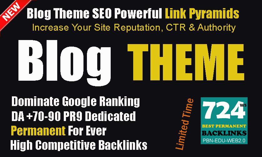 NEW Complete SEO Package 2021- Guaranteed Link Pyramids 2 Tiers Blog Theme Backlinks