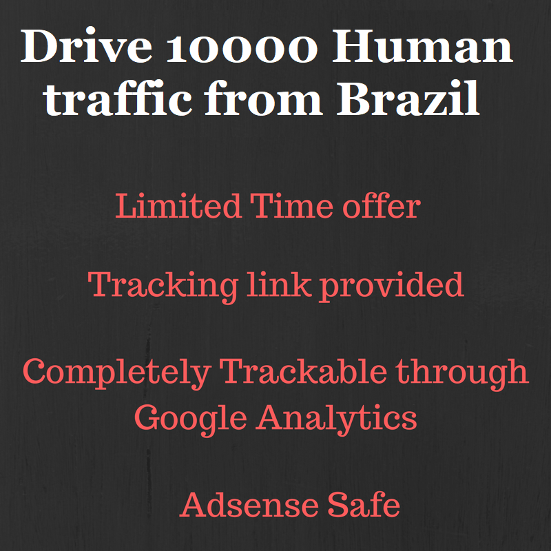 Send 10000+ real human traffic from Brazil