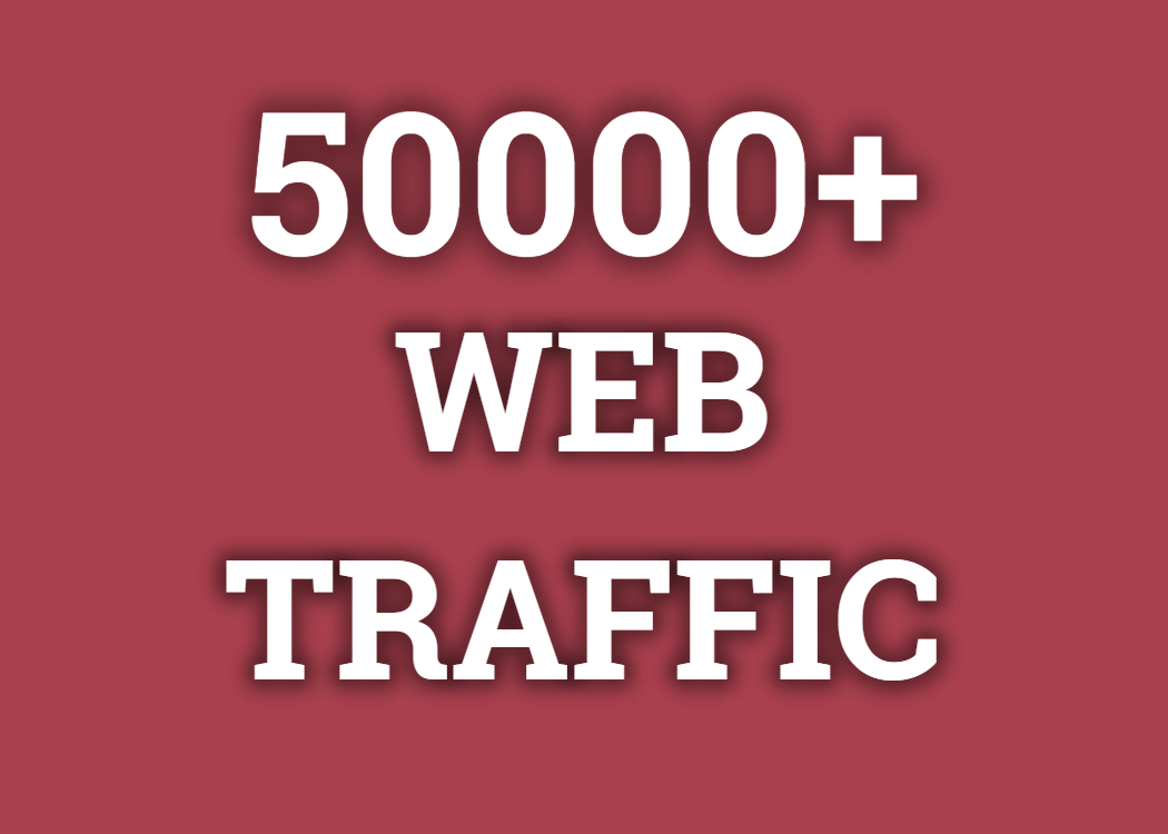 Real 50,000+ Web Traffic WORLDWIDE from Search Engine and Social Media