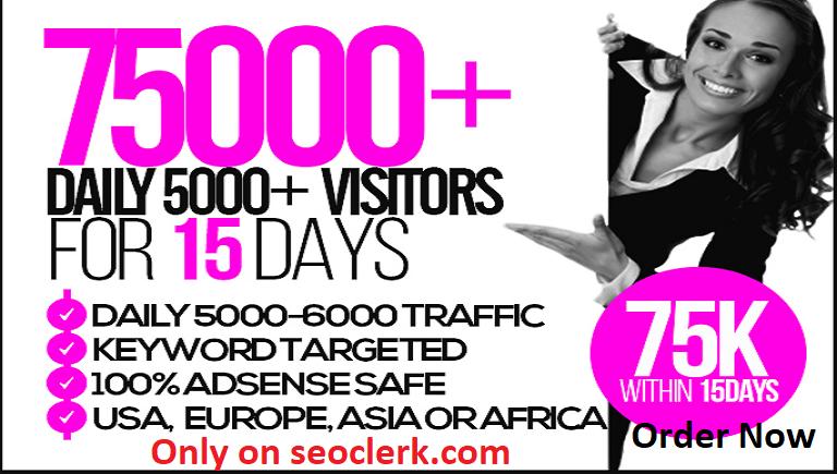 bring unlimited adsense safe,targeted webtraffic form Usa and Europe