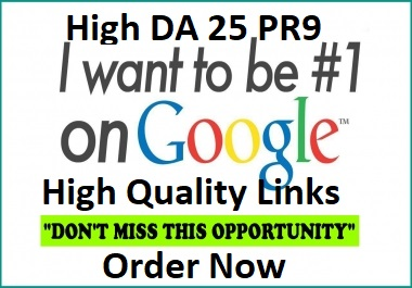 Create DA 80+High quality profile Backlinks with All PR9 25 safe seo links