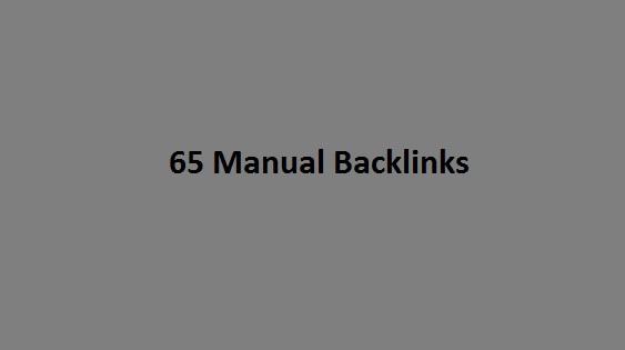 65 High DA Manual Backlinks