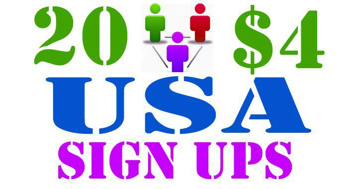 20 USA Referral Signups