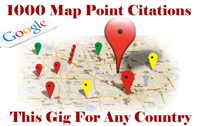 do 1000 google map point citations for any country