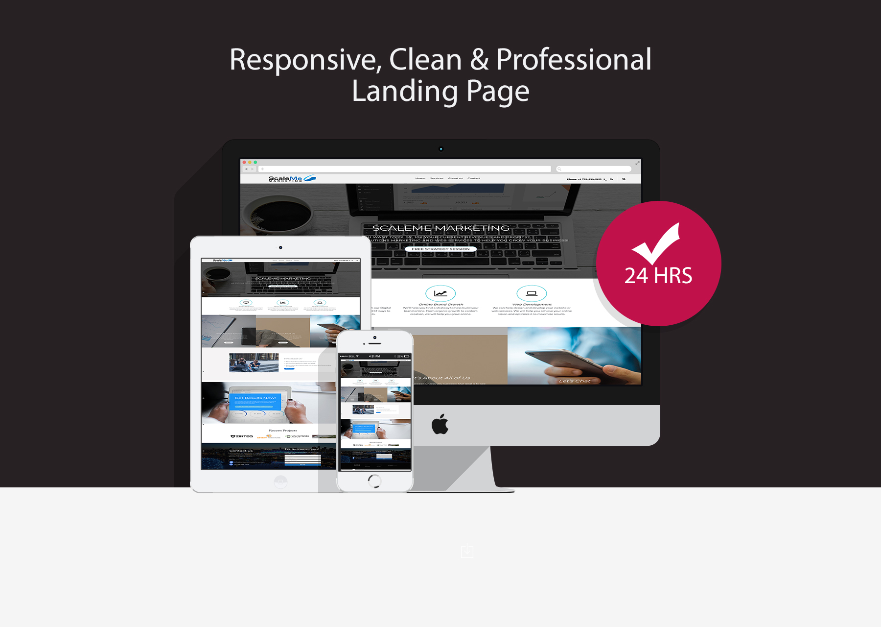 I will create a responsive landing page in wordpress