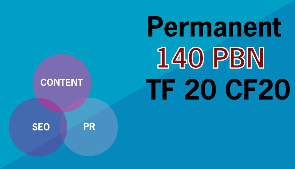 Build 140 Permanent High Metrics Homepage PBN Backlin...