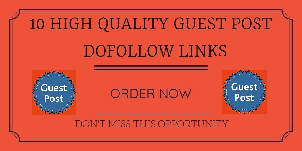 Write and guest post on 10 high DA authority websites